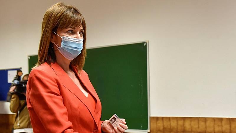 """Idoia Mendia: """"Vamos a utilizar cada papeleta en reconstruir económica y socialmente Euskadi"""""""