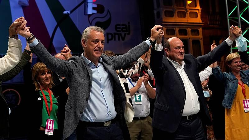 """Elecciones vascas: Urkullu se muestra """"satisfecho"""" tras conseguir tres escaños más que en 2016"""