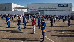 Los trabajadores de Airbus inician protestas contra los despidos en las plantas que la compañía tiene en España