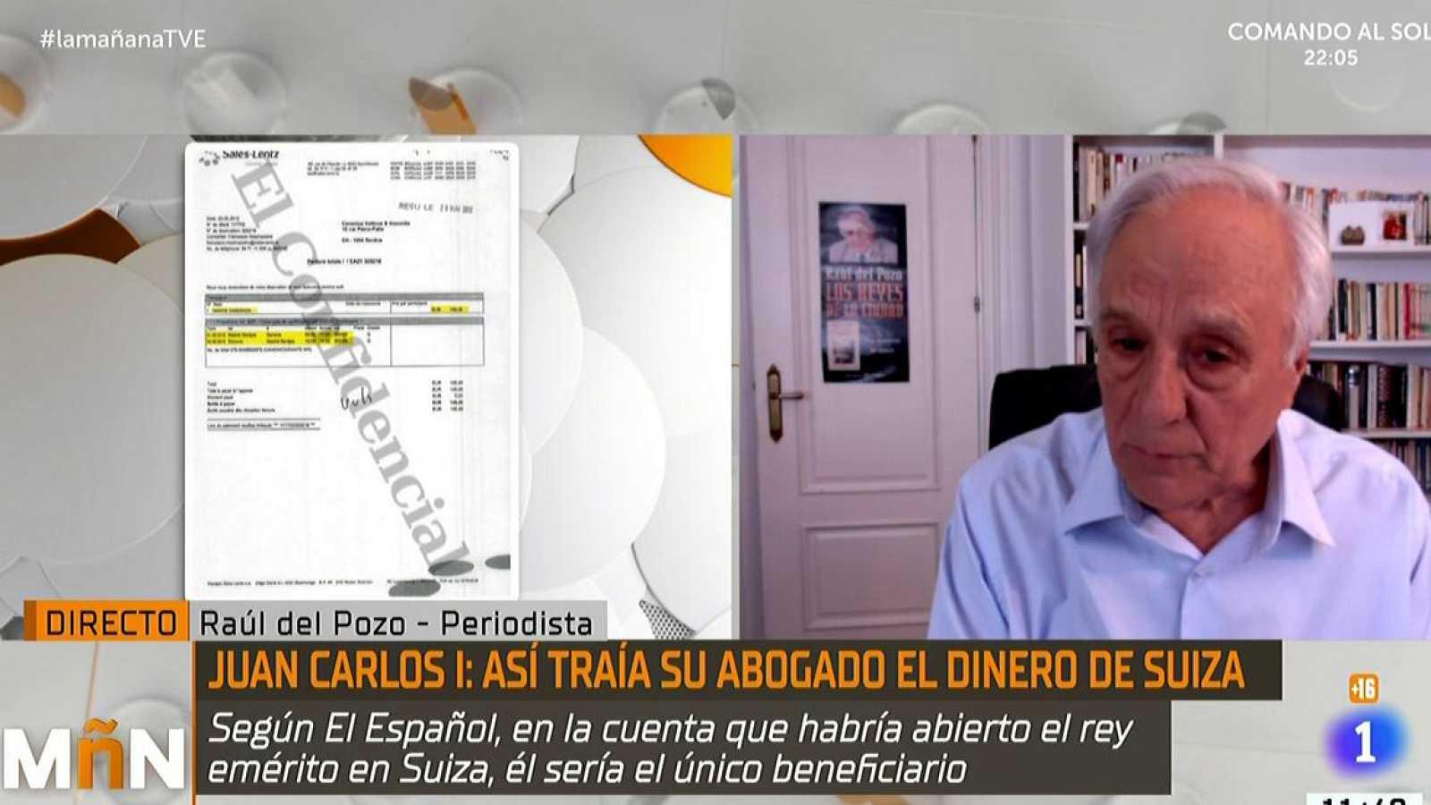 Raúl del Pozo defiende al Rey emérito en directo en La Mañana