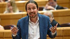 """Senado: El PP acusa a Iglesias de """"violencia de género"""" por guardar la tarjeta de Bousselham y éste les reta a ir a los tribunales"""