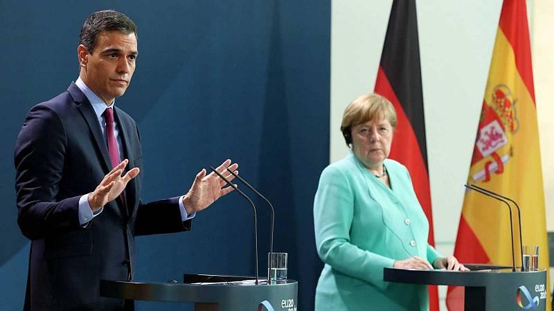 Merkel tiende la mano para alcanzar un acuerdo sobre el fondo de recuperación, aunque admite las diferencias