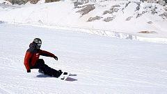 Regino Hernández y el resto de deportistas de la RFEDI vuelven a la nieve cuatro meses después
