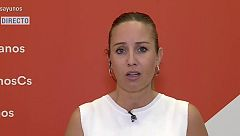 """Melisa Rodríguez (Cs): """"Nos preocupa que Torra use la pandemia para hacer política independentista"""""""