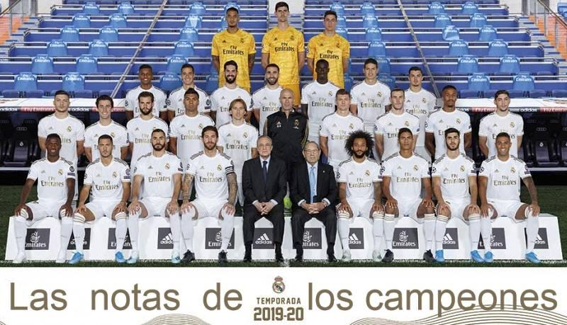 Las notas a los campeones de Liga, el uno por uno de los jugadores del Real Madrid