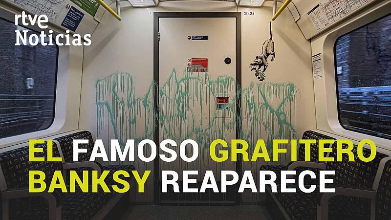 Banksy reaparece en el metro de Londres para concienciar sobre el uso de la mascarilla