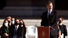 """Felipe VI pide mirar al futuro unidos desde """"el respeto y el entendimiento"""""""