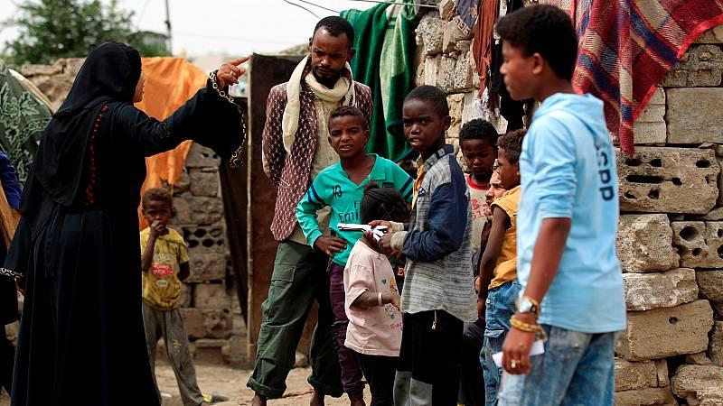 Miles de migrantes atrapados en Yemen por el coronavirus
