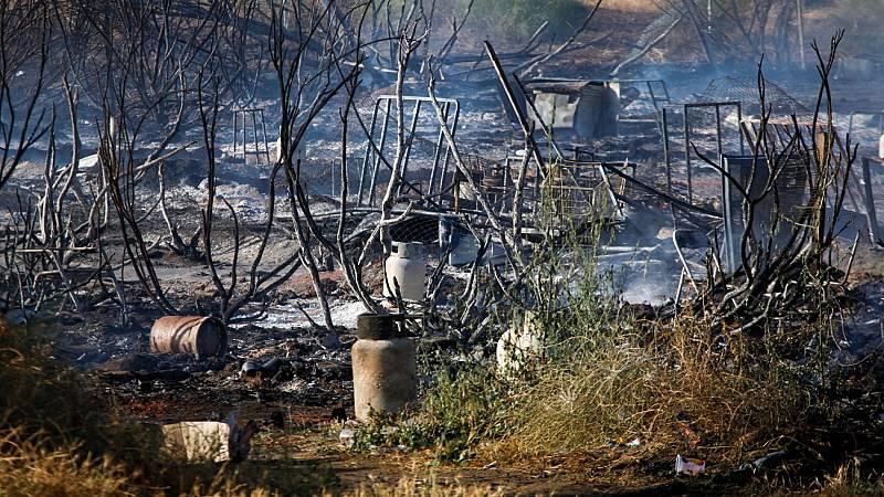 Nuevo incendio en un asentamiento de inmigrantes en Lepe