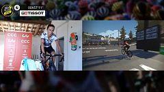 Ashleigh Moolman-Pasio cruza la meta del Mont Ventoux en solitario