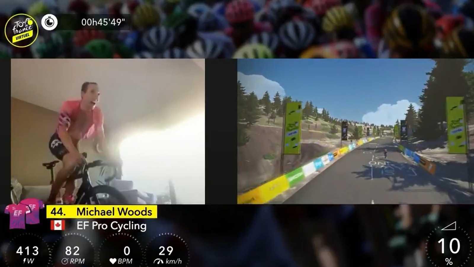 Vídeo: Woods vence en la etapa reina en Mont Ventoux