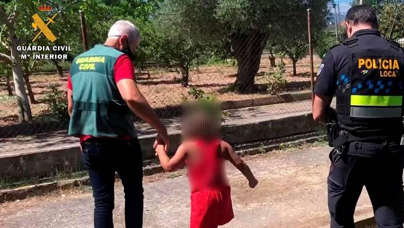 La Guardia Civil auxilia a una niña de siete años abandonada en una carretera en La Rioja