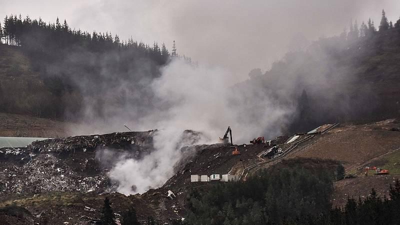 La Ertzaintza sigue investigando el derrumbe del vertedero de Zaldibar mientras buscan a los trabajadores sepultados