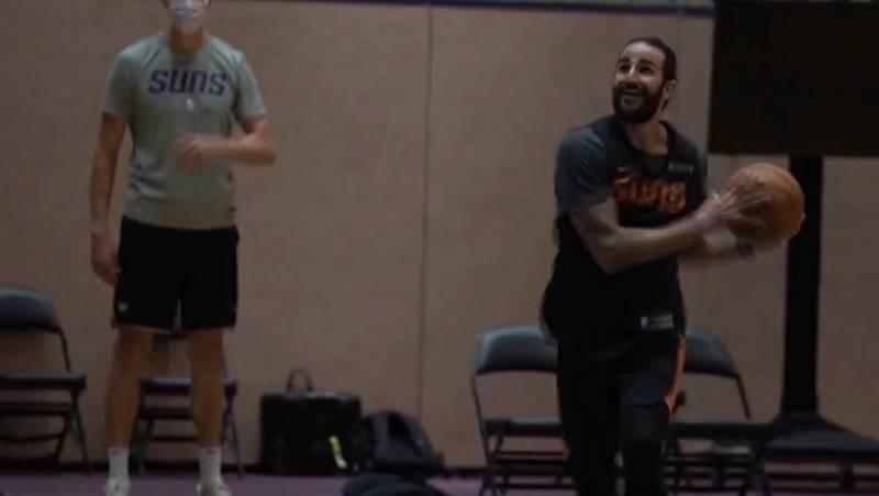 Ricky Rubio ya entrena con los Suns