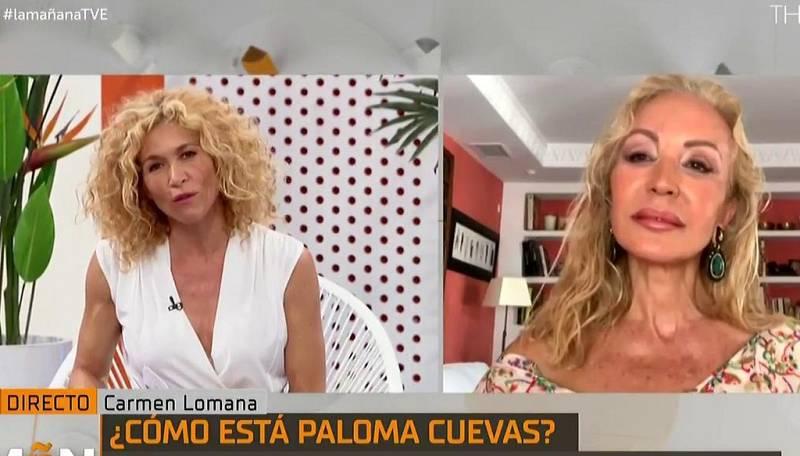 Carmen Lomana ha hablado con Paloma Cuevas