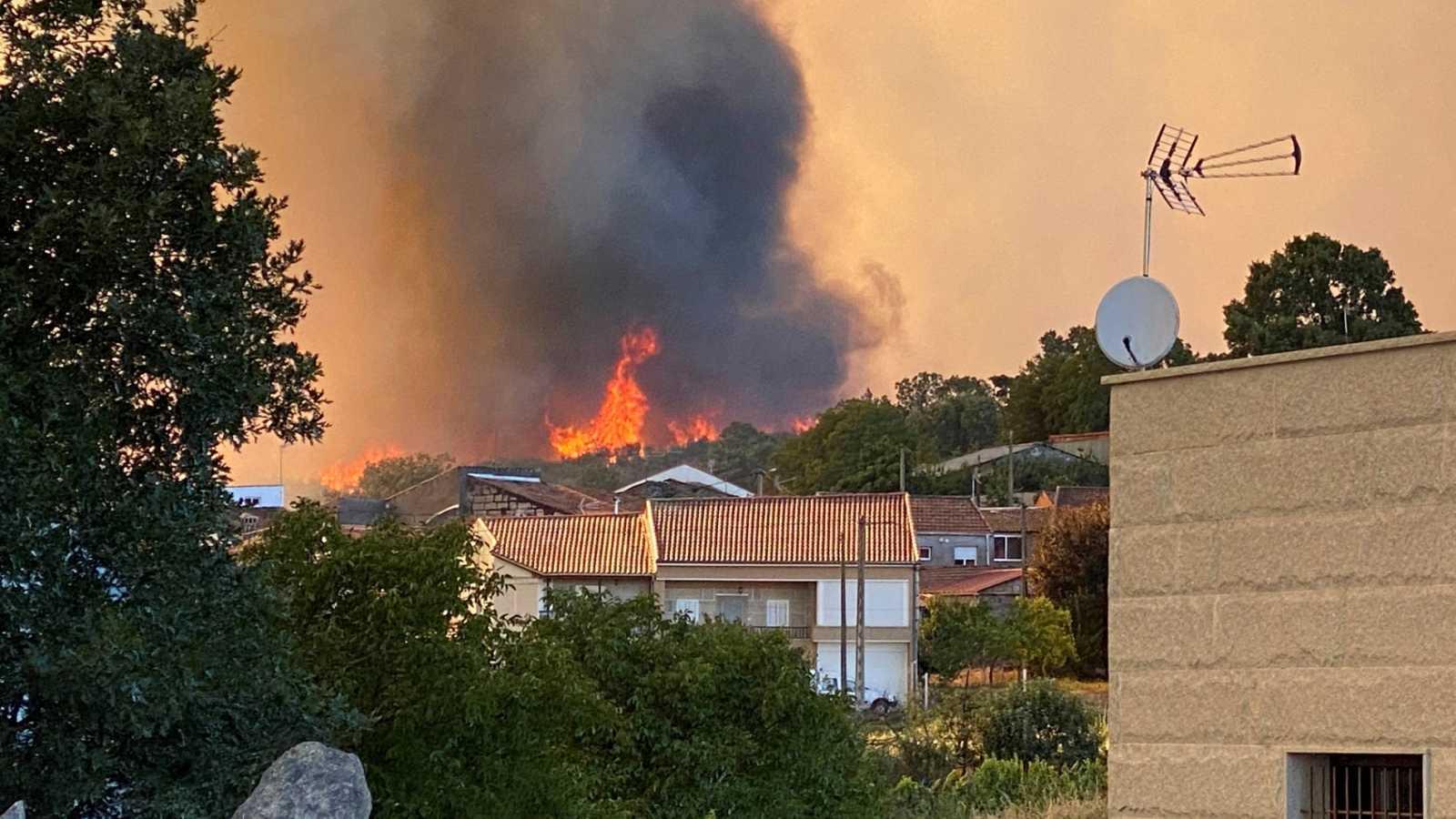 Más de 450 hectáreas han ardido ya en Monterrei (Ourense)