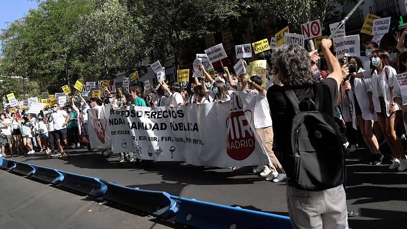 Tercer lunes de huelga de los médicos internos residentes (MIR) para exigir un convenio que mejore sus condiciones laborales