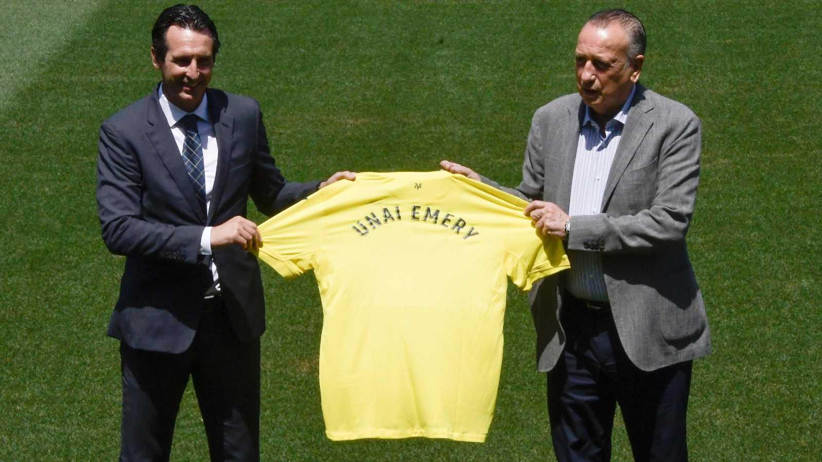 """Unai Emery, presentado con el Villarreal: """"Sueño con un título"""""""
