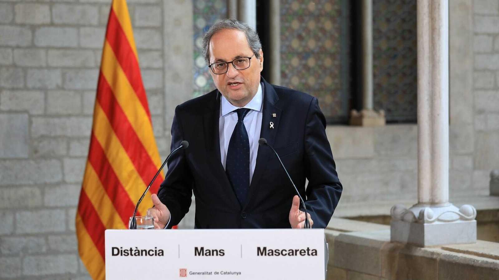 """Torra pide a Sánchez el """"cese de hostilidades"""" para retomar el diálogo"""