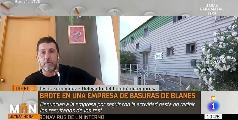 Jesús Fernández, responsable de una empresa de basuras con un brote de covid