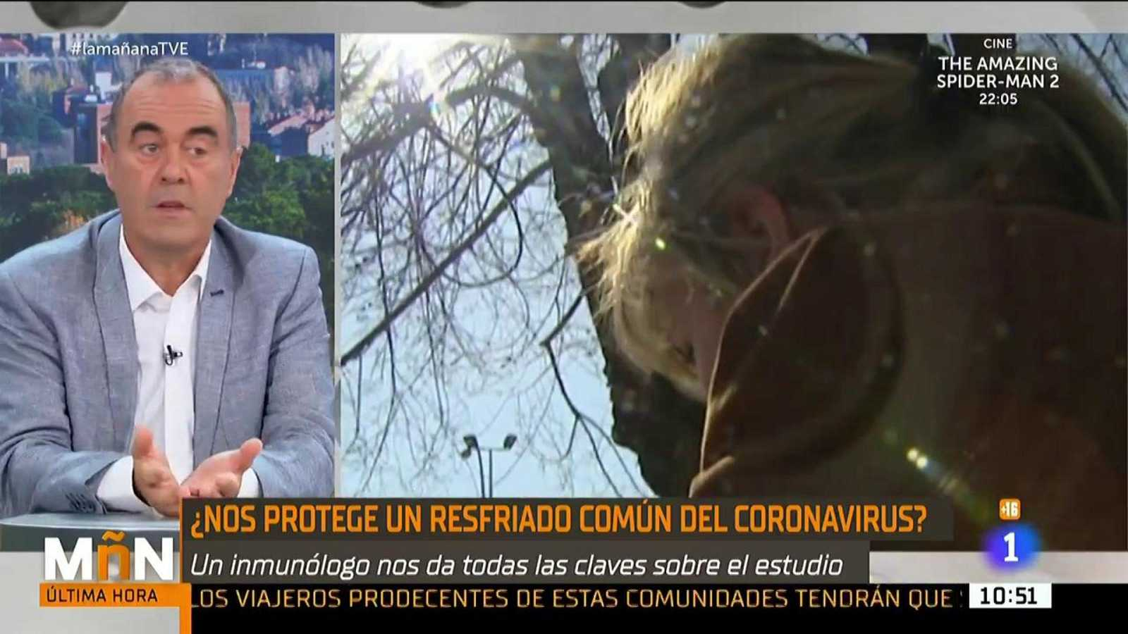 El inmunólogo Marcos López Hoyos resuelve dudas sobre el resfriado común y el coronavirus