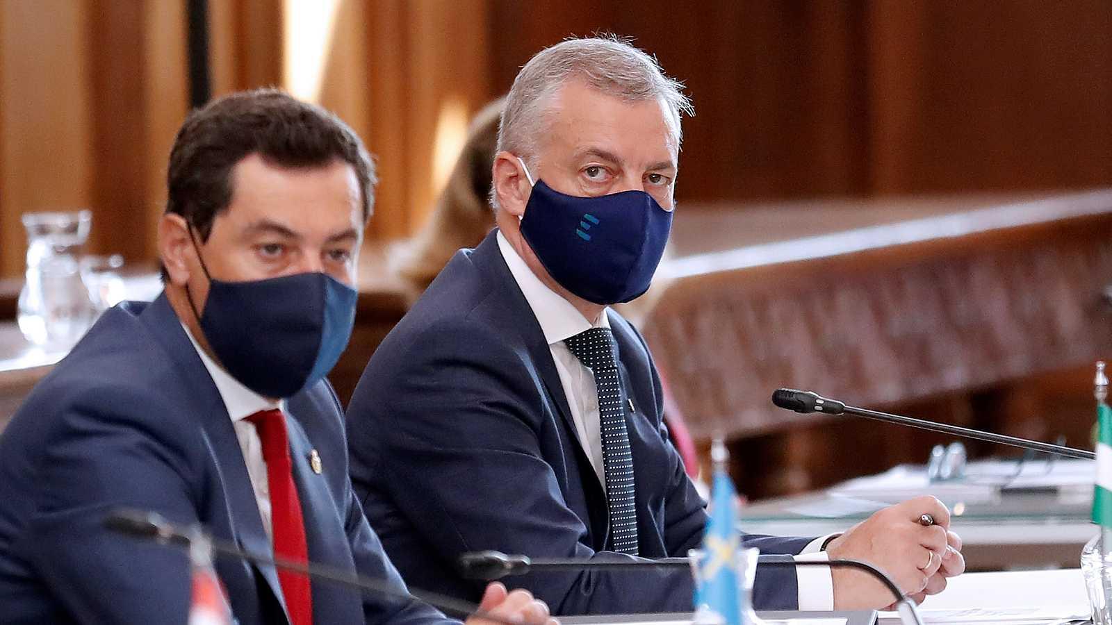 Urkullu asiste a la conferencia de presidentes tras alcanzar un acuerdo sobre el déficit vasco