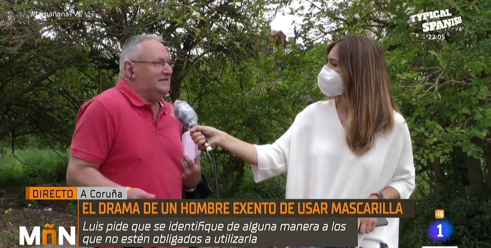 Luis Varela: el hombre que no puede utilizar mascarilla