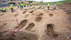 Encuentran una necrópolis de la Edad Media en las obras de una autovía en La Rioja