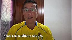 """Nandi Espino, tercera mujer árbitro en la Liga Asobal: """"Es un premio al trabajo constante"""""""