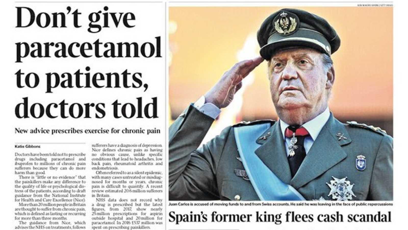 Así recoge la prensa internacional la salida del rey Juan Carlos