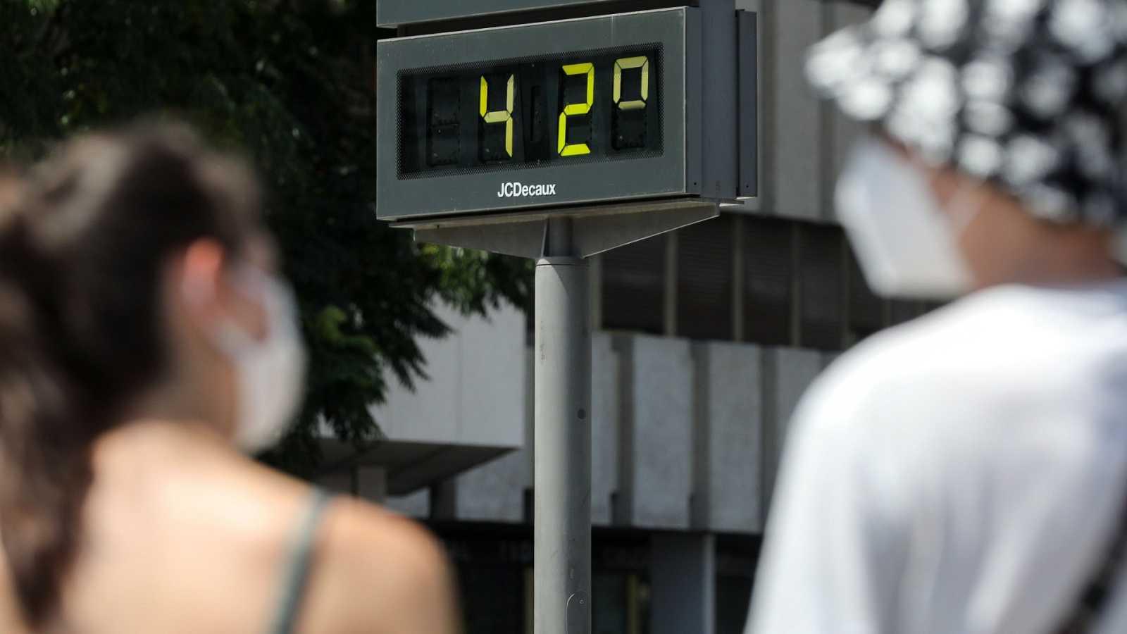 Temperaturas muy altas en el suroeste del país y en el sur de Galicia