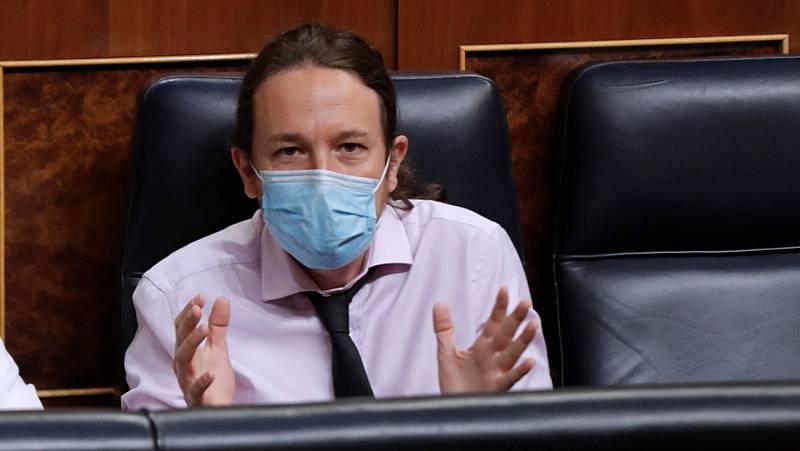 """Iglesias considera que """"no es aceptable"""" que el rey emérito se haya marchado de España """"cuando se le está investigando"""""""