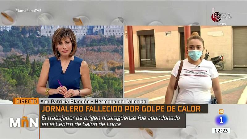 Entrevista a la hermana de un temporero que falleció en Lorca