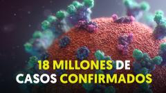 Más de 18 millones de contagios en siete meses de pandemia
