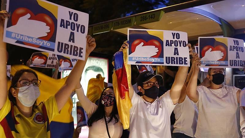 La detención domiciliaria del expresidente colombiano Álvaro Uribe causa un terremoto político