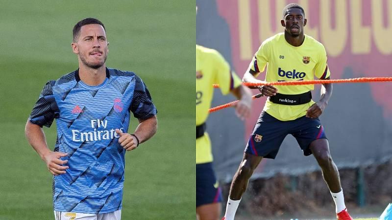 Hazard sigue apurando para estar ante el City y Dembelé vuelve a entrenar con el grupo