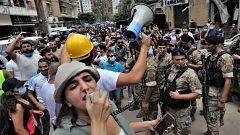 Violentas protestas en Beirut contra el Gobierno al que responsabilizan de la explosión