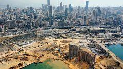 """Veinte trabajadores del puerto de Beirut detenidos por presunta negligencia, mientras el presidente del Líbano no descarta """"una intervención externa"""" en la explosión"""