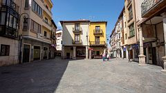 Los vecinos de Aranda de Duero pasan su primer día de confinamiento