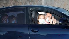 La familia real comienza su estancia en el Palacio de Marivent en Palma