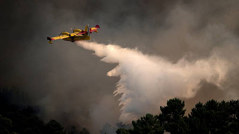 Un muerto al estrellarse un hidroavión portugués que trabajaba en las labores de extinción del fuego en el Parque del Gerês-Xurês