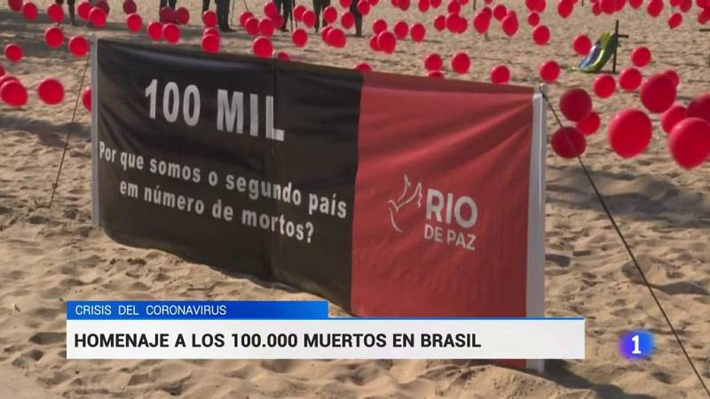 Homenaje a los 100.000 muertos en Brasil
