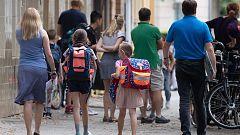 Los alumnos alemanes regresan al colegio con diferentes medidas de protección