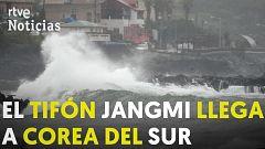 Corea del Sur se prepara para recibir al tifón Jangmi en medio de las últimas lluvias torrenciales