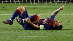 Messi entrena con normalidad en el Barça