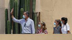 Los reyes no responden a la pregunta sobre el paradero de Juan Carlos I