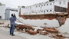 Las fuertes tormentas provocan numerosos daños en la localidad sevillana de Estepa