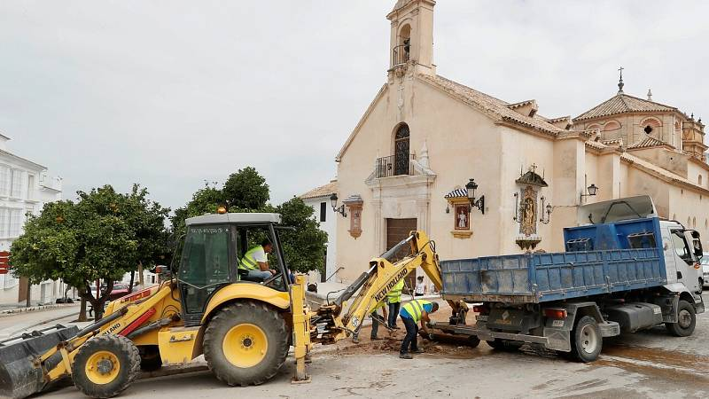 Ciudad Real y Estepa hacen balance de los daños producidos por las fuertes tormentas del martes