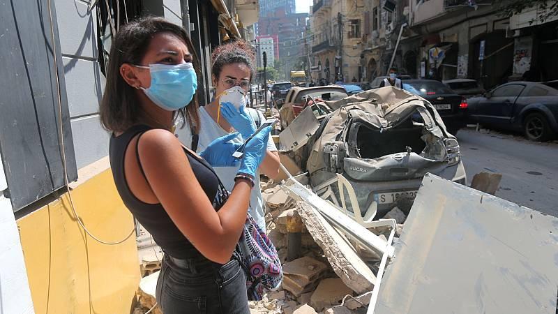 La propagación del coronavirus complica la recuperación de Beirut