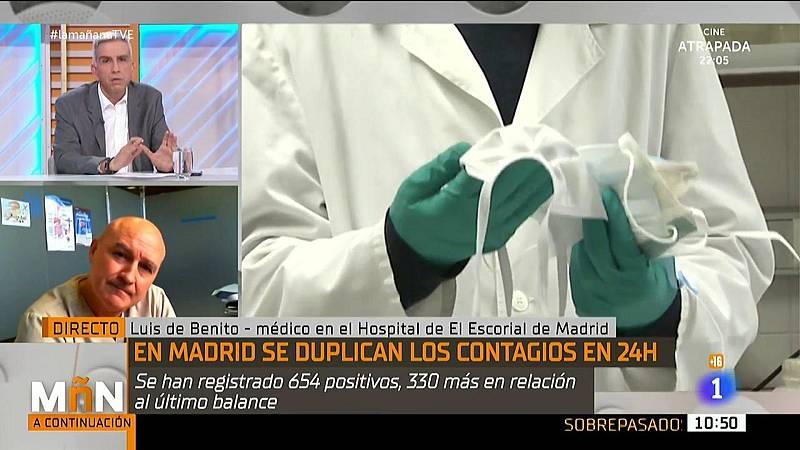 Doctor Luis de Benito. Entrevista sobre el aumento de casos